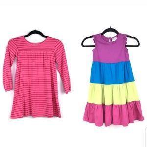 Lot of 2 Hanna Andersson Girls Dresses Sz 120 6-7